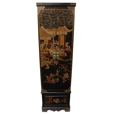 oriental jewelry armoire oriental furniture black lacquer floor jewelry armoire ebay