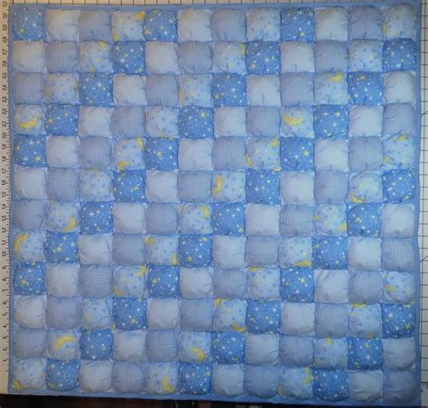 Baby Puff Quilt by Baby Boy Blue Puff Quilt Biscuit Quilt Baby Or Crib Size