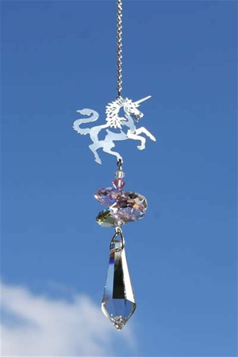 Clear St Unicorn S unicorn with teardrop the wind chime shop limited