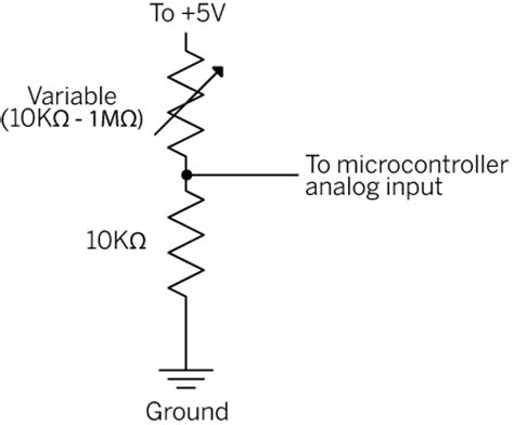how to connect variable resistor in circuit analog input code circuits construction