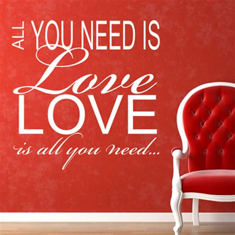 Sticker Wallpaper I Loved You 90cr0e all you need is quote wall sticker quotes