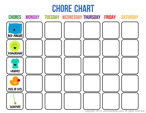printable charts for toddlers 5 free printable chore charts for kids you can download