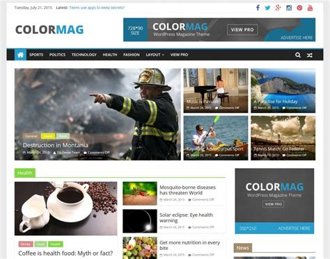 list themes for wordpress 21 best free responsive magazine wordpress themes 2018