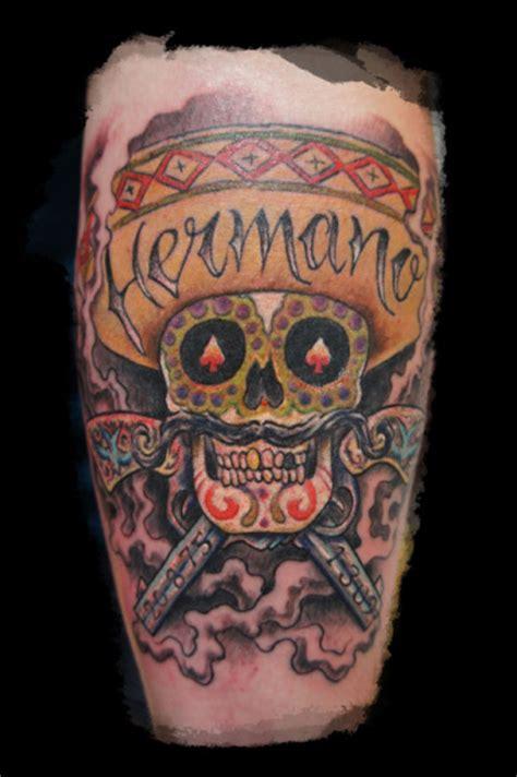 zulu tattoo prices dublin leg mexican skull tattoo by zulu tattoo dublin