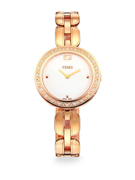 fendi my way fur goldtone stainless steel
