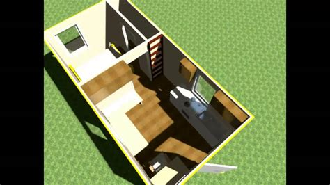 Floor Plan With Loft by 3 000 Tiny House Design 10x20 Lofted Tiny Home W Outside Greenhouse Bathroom Youtube