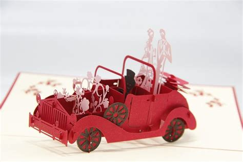 Unique Gifts Made From Wedding Invitation by Creative Handmade Wedding Car 3d Wedding Invitation Card