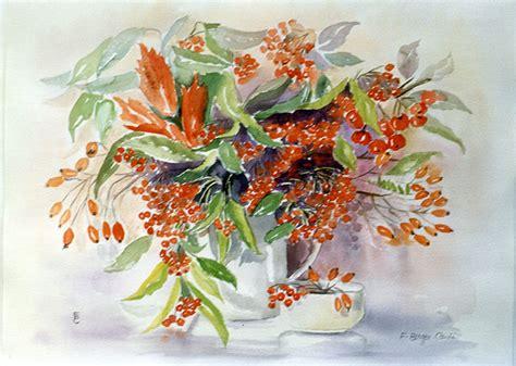 Aquarelles Les Fleurs Artiste Peintre Francette