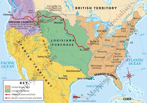 louisiana purchase map four color cartography