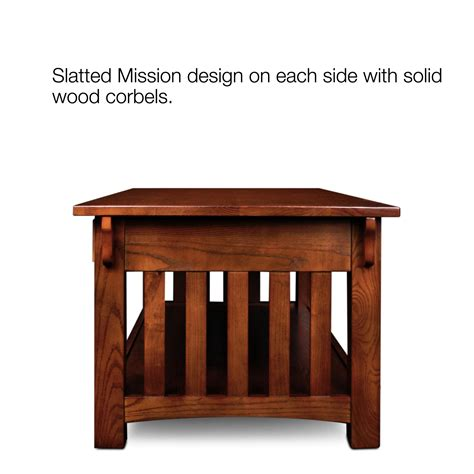 Mission Style Coffee Table With Drawers End Table Side Table Chairside Table Living Room Furniture