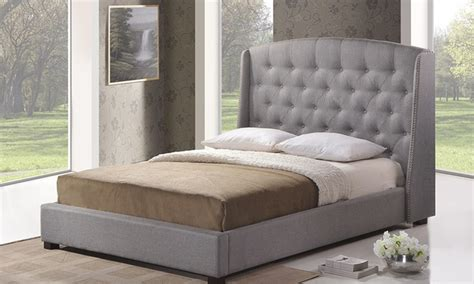 modern upholstered beds with tufted headboards groupon