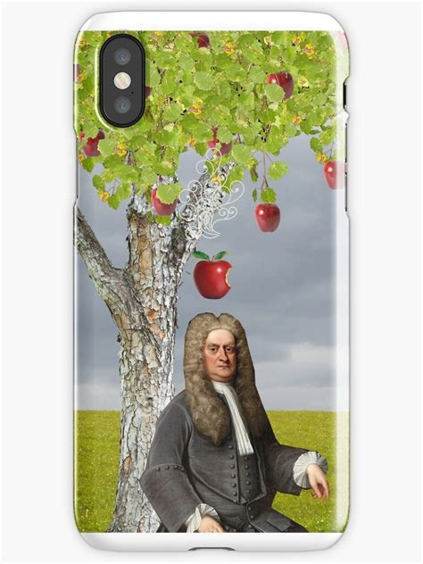 isaac newton apple tree iphone cases covers  red leaf redbubble