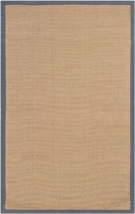 rugs with borders bay sisal rug with grey border by chandra rugs rosenberryrooms