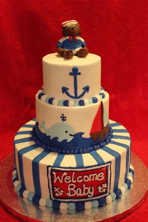 Kourtney Baby Shower Cake by Nautical Themed Baby Shower Cake Kourtney Lavin Lavin