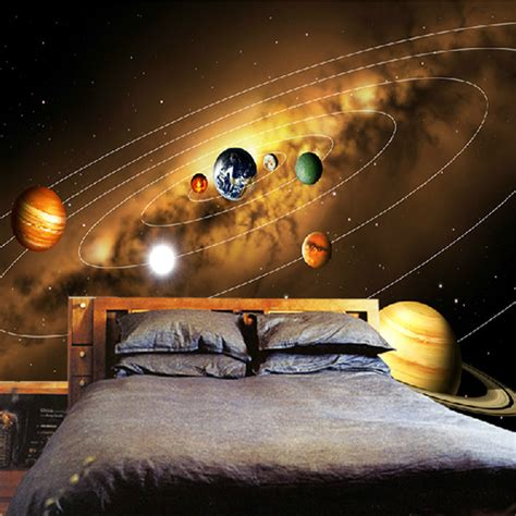 solar system wall mural wallpaper photowall home customize personality 3d photo wallpaper living room sofa