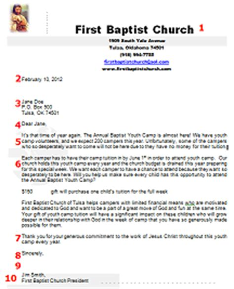 Fundraising Letter Sle For Church Donation Request Letter Sle