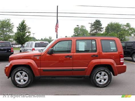 liberty jeep 2009 2009 jeep liberty sport 4x4 in sunburst orange pearl photo