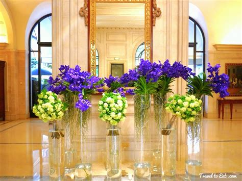 Courtyard Designs george v hotel and jeff leatham paris travel to eat