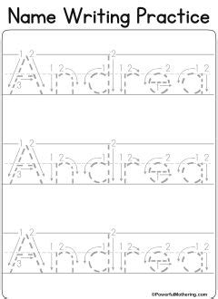 custom name tracing worksheets fine motor pinterest