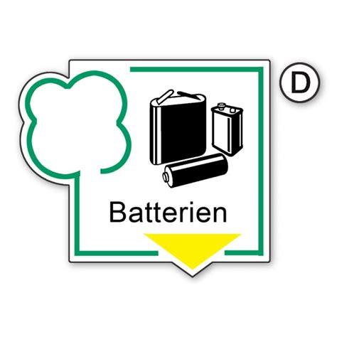 Aufkleber Pvc Folie by Recycling Aufkleber Batterien Aufkleber Shop