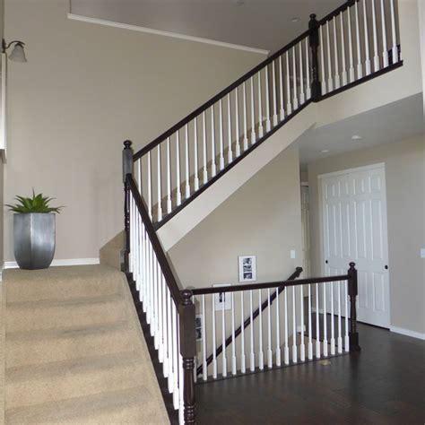 Furniture: Wonderful Wooden Stair Railing Using Espresso