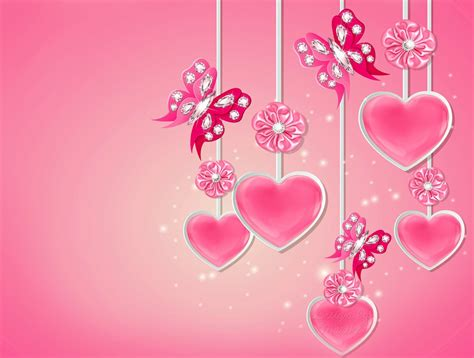 wallpaper romantic pink pink love heart backgrounds 183