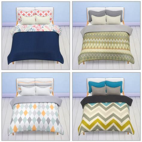 blankets for beds my sims 4 blog stockholm bed pillows and blanket