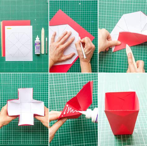 Origami Treat Box - origami picnic boxes diy