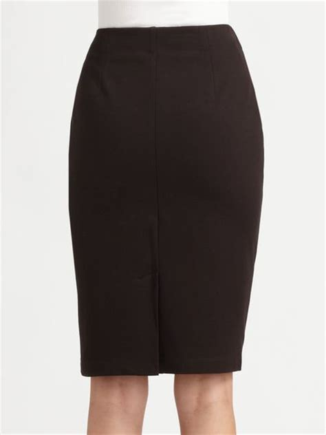 eileen fisher jersey pencil skirt in brown chocolate lyst