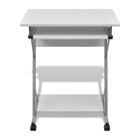 student office desk vidaxl co uk computer desk pull out tray white furniture