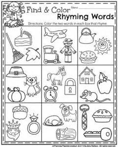 fall kindergarten worksheets november planning playtime