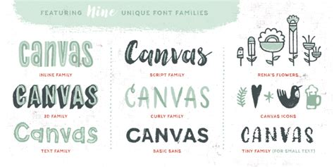 canva font download hot fonts download canvas acrylic megafamily font
