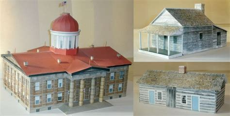 Papercraft Architecture - lincoln bicentennial architecture papercraft jpg