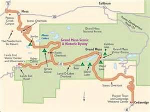 grand mesa colorado map colorado scenic drive grand mesa scenic byway howstuffworks