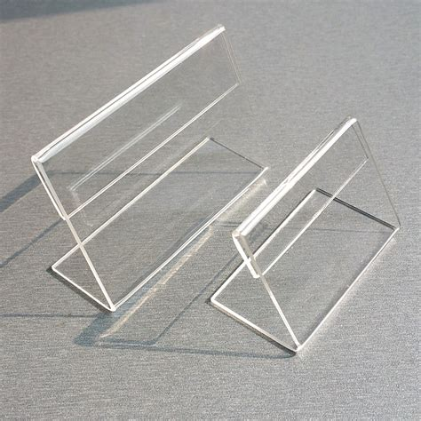 clear plastic table sign holders aliexpress com buy acrylic t1 3mm clear plastic table