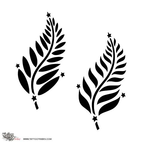 fern tattoo meaning of silver fern southern cross custom