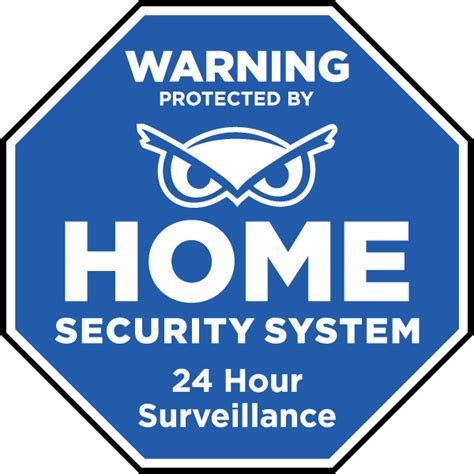 Home Security Signs by Protected By Home Security System Yard Sign F8100