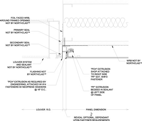 Interior Door Construction Details Northclad Acm Series Details For Application Without Isulation