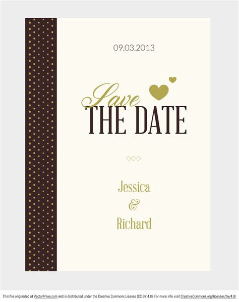 Wedding Invitation Vector by Free Vector Wedding Invitation