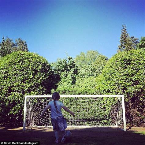 david beckham house 2015 david beckham posts sweet snap of harper scoring a goal