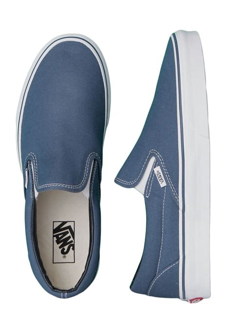 Slip On Navy vans classic slip on navy shoes impericon worldwide