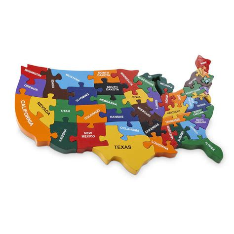 usa map puzzle wooden handmade wooden map of usa puzzle by wood like to play
