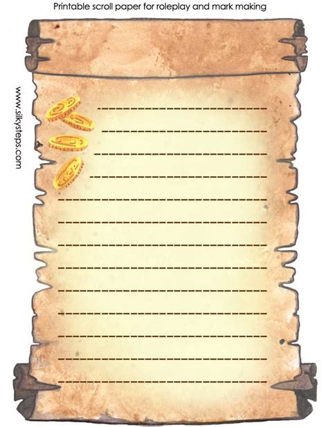Best Photos of Printable Lined Scroll Paper   Scroll