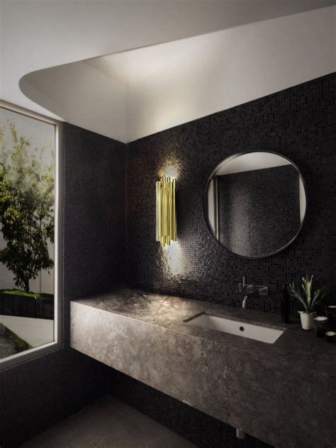 black bathroom design ideas back in black with 10 bathroom design ideas