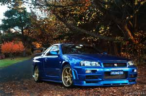Nissan Gtr R34 Blue Nissan Skyline R34 Gt R V Spec Ii At Leura Autumn In The