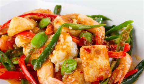 resep   memasak udang pete tauco pedas sajian