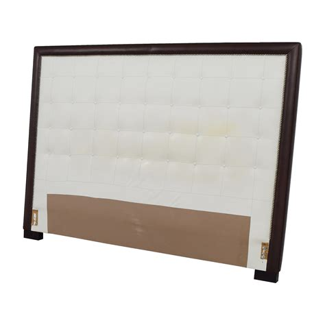 nailhead king headboard 51 off custom white tufted leather nailhead and wood