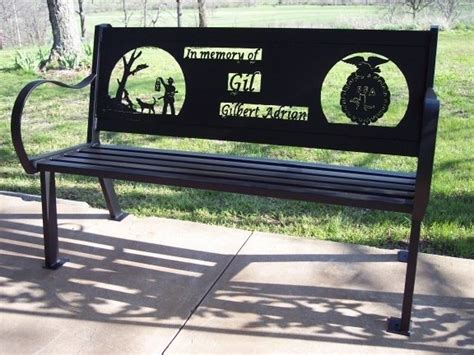 personalized benches outdoor custom outdoor benches by hooper hill custom metal designs