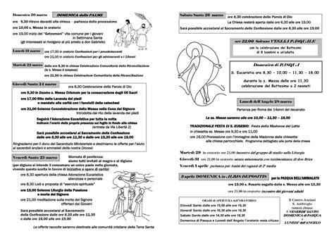 programma settimana santa 2016 parrocchia la settimana santa