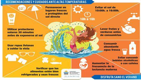 alimentos para evitar diarrea recomiendan medidas para evitar golpes de calor